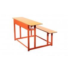 میز و نیمکت سه نفره مدرسه کد 018
